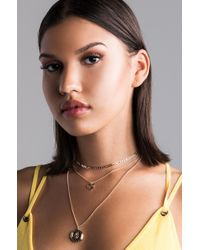 Akira - Metallic Baby Love Layered Necklace - Lyst