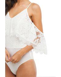AKIRA - White Lace Like Jagger Bodysuit - Lyst