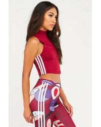 Adidas Originals - Black Rita Ora High Neck Tank - Lyst
