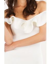 AKIRA | White Hold You Captivated Trumpet Dress | Lyst