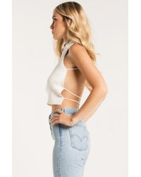 Akira - Multicolor Hey There Open Back Sweater Crop - Lyst