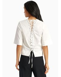 A.L.C. - White Frankie Top - Lyst