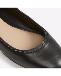 ALDO - Black Kaydien Leather Ballerina Flats - Lyst