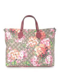 Gucci | Metallic 'gg Blooms' Shopping Bag | Lyst