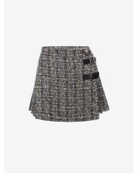 Alexander McQueen - Black Mini Kilt Skirt - Lyst