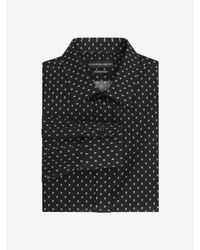Alexander McQueen - Black Dotted Skull Regular Fit Single Cuff Shirt for Men - Lyst