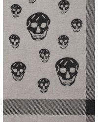 Alexander McQueen - Black Large Skull Shawl for Men - Lyst