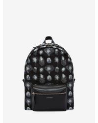 Alexander McQueen - Black Printed Backpack - Lyst