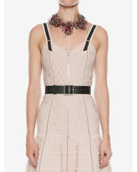 Alexander McQueen - Multicolor Jewelled Rose Choker - Lyst