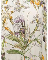 Alexander McQueen - White Wild Iris Over Dress - Lyst