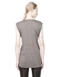 T By Alexander Wang - Gray Classic Muscle Tee With Pocket - Lyst