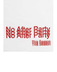 Alexander Wang | White No After Party Short Sleeve T-shirt | Lyst
