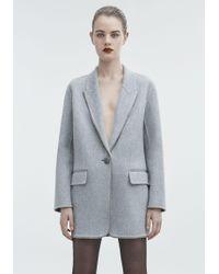 Alexander Wang - Gray Wool Coat - Lyst