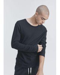 T By Alexander Wang - Black Long Sleeve Tee for Men - Lyst
