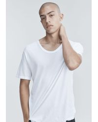 T By Alexander Wang - White Low Neck Tee for Men - Lyst