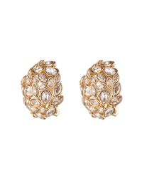 Alexis Bittar - Metallic Jagged Diamond Button Clip Earring - Lyst