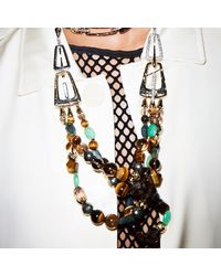 Alexis Bittar - Metallic Abstract Buckle Beaded Necklace You Might Also Like - Lyst
