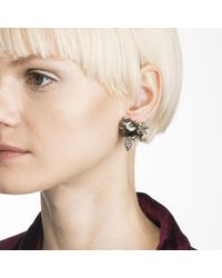Alexis Bittar - Multicolor Crystal Encrusted Starburst Pearl Button Clip Earring You Might Also Like - Lyst