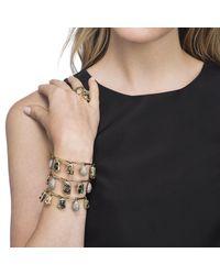 Alexis Bittar - Metallic Swinging Charm Tall Cuff Bracelet You Might Also Like - Lyst