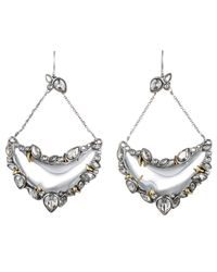 Alexis Bittar - Metallic Jardin Mystère Jagged Crystal Framed Crescent Earring You Might Also Like - Lyst