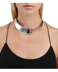 Alexis Bittar | Metallic Racing Stripe Hinged Cabochon Collar You Might Also Like | Lyst