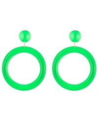 Alexis Bittar - Green Ab X Jeremy Scott Large Hoop Clip Earring You Might Also Like - Lyst