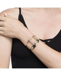 Alexis Bittar - Metallic Wide Buckle Cuff Bracelet - Lyst