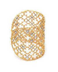 Alexis Bittar - Metallic Muse D'ore Gold Crystal Studded Spur Lace Cuff You Might Also Like - Lyst