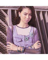 Alexis Bittar - Blue Flower Post Stud Earring - Lyst