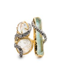 Alexis Bittar - Blue Moonlight Stacked Cocktail Ring - Lyst