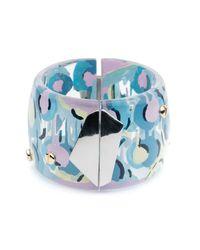 Alexis Bittar - Blue Petal Studded Hinge Bracelet - Lyst