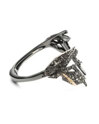 Alexis Bittar | Metallic Two-tone Crystal Encrusted Origami Break Hinge Bracelet You Might Also Like | Lyst
