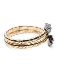 Alexis Bittar | Metallic Crystal Encrusted Coiled Origami Bracelet You Might Also Like | Lyst