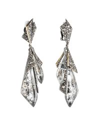 Alexis Bittar | Multicolor Two-tone Crystal Encrusted Layered Origami Clip Earring You Might Also Like | Lyst