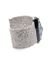 Alexis Bittar | Black Crystal Lace Cuff With Enamel Framed Stone You Might Also Like | Lyst