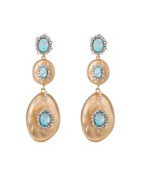 Alexis Bittar   Metallic Crystal And Stone Studded Dangling Post Earring You Might Also Like   Lyst