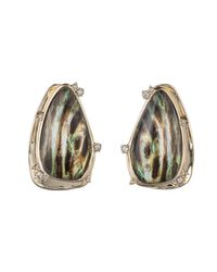 Alexis Bittar - Multicolor Wood Grain Button Clip Earring You Might Also Like - Lyst