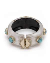 Alexis Bittar   Metallic Liquid Silk And Stone Hinge Bracelet You Might Also Like   Lyst