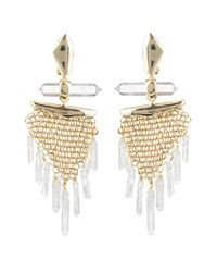 Alexis Bittar - Metallic Dangling Rock Crystal Mesh Clip Earring You Might Also Like - Lyst