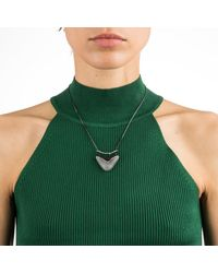 Alexis Bittar - Gray Crystal Encrusted Bar And Shield Pendant Necklace - Lyst