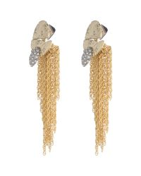 Alexis Bittar - Metallic Rocky Medallion Post Earring - Lyst