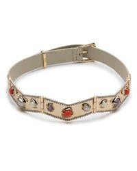 Alexis Bittar - Multicolor Stone Cluster Buckle Leather Bracelet - Lyst