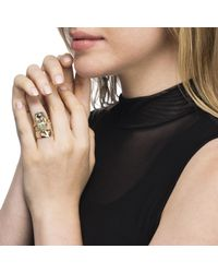 Alexis Bittar - Metallic Stone Slab Double Banded Cocktail Ring You Might Also Like - Lyst