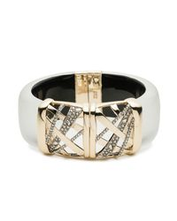 Alexis Bittar - Metallic Crystal Encrusted Plaid Hinge Bracelet You Might Also Like - Lyst