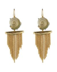 Alexis Bittar - Multicolor Crystal Studded Shell Tassel Wire Earring You Might Also Like - Lyst