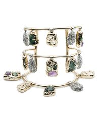 Alexis Bittar | Metallic Swinging Charm Tall Cuff Bracelet You Might Also Like | Lyst