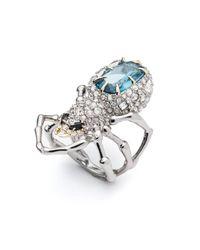 Alexis Bittar - Multicolor Crystal Encrusted Spider Ring - Lyst