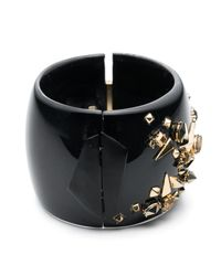 Alexis Bittar - Black Golden Studded Hinge Bracelet You Might Also Like - Lyst
