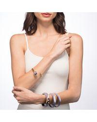 Alexis Bittar - Metallic Crystal Encrusted Tulip Bypass Hinge Bracelet - Lyst