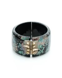 Alexis Bittar | Multicolor Golden Studded Hinge Bracelet You Might Also Like | Lyst